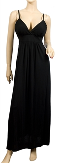 Plus Size Sexy Black Cocktail Maxi Dress