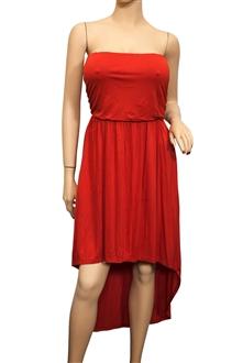 Plus Size Hi-lo Tube Dress Orange