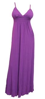 Plus Size Sexy Cocktail Maxi Dress Purple