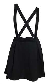 Plus Size Overall Skirt Black