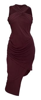 Plus Size Sleeveless Asymmetrical Hem Dress Mauve