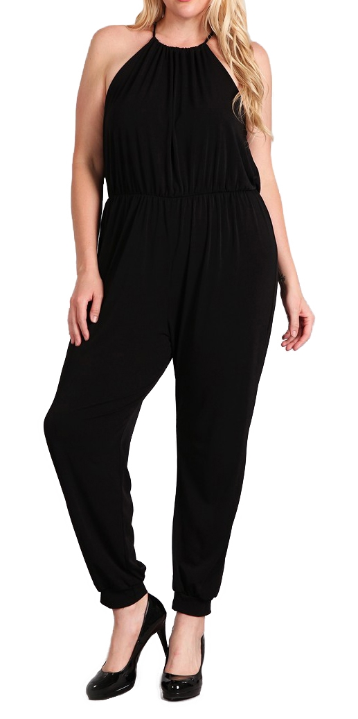 Women's Sleeveless Jumpsuit Black