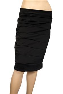 Plus size Bandage Pull On Pencil Skirt Black