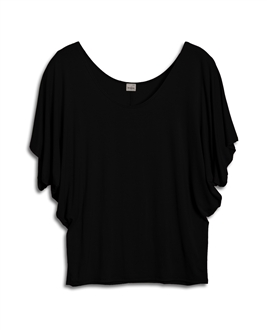 Plus Size Dolman Sleeve Top Black