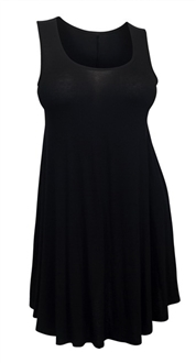 Plus Size Sleeveless Dress Top Black