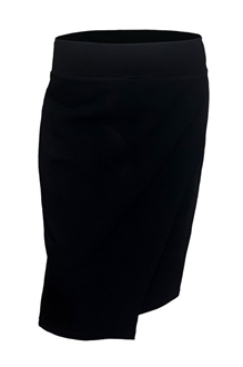 Plus Size Layered Front Skirt Black