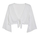 Sexy White Sheer Front Tie Bolero Shrug Plus Size