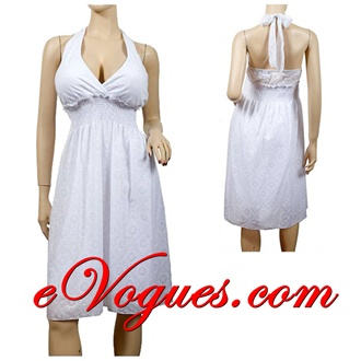 Halter sun dress plus size