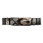 Plus Size Snake Skin Print Interlocking Buckle Elastic Belt
