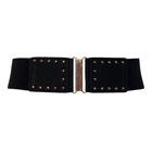 Plus Size Metal Stud Studded Elastic Belt Black