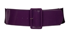 Plus Size Wide Patent Leather Fashion Belt Purple