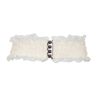 Plus Size Lace Wide Elastic Belt White