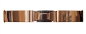 Plus size Gold Metallic Big Mirror Bow Elastic Fashion Belt Brown