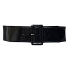Plus Size Wide Patent Leather Fashion Belt Black