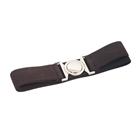Plus size Round Buckle Elastic Belt Brown