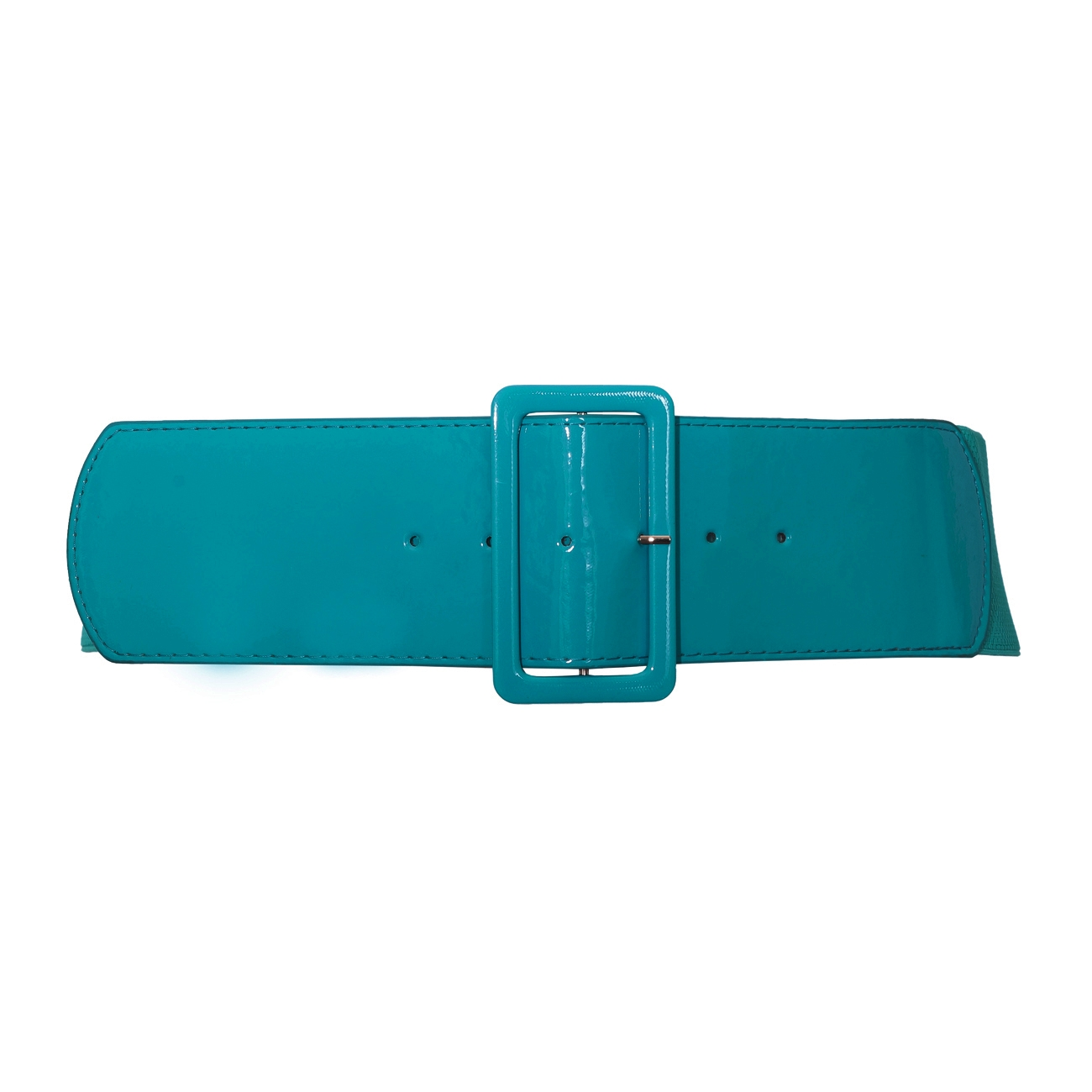 plus size wide patent leather fashion belt teal evogues