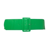 Women's Wide Patent Leather Fashion Belt Green