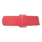 Women's Wide Patent Leather Fashion Belt Coral