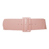 Plus Size Wide Patent Leather Fashion Belt Baby Pink