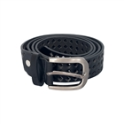 Plus Size Hollow Leatherette Belt With Alloy Buckle Black