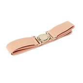 Plus size Round Buckle Elastic Belt Baby Pink