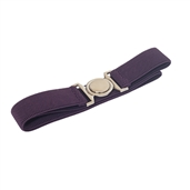 Plus size Round Buckle Elastic Belt Purple
