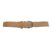 Plus Size Braided Woven Stretch Belt Khaki