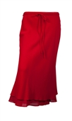 Red Layered Plus size long skirt