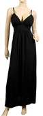 Sexy Black Full Length Cocktail Plus Size Dress