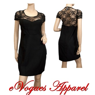 Size Black Dress on Plus Size Lace Top Black Mini Dress