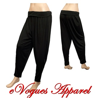 Plus-size Women's Black Baggy Pants