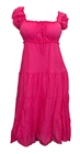 Pink Cotton Empire Waist Plus Size SunDress
