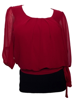 Red Plus Size Blouses 82