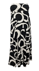 Plus size Alphabet Print Dress Skirt Black