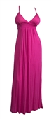 Plus Size Sexy Pink Cocktail Maxi Dress