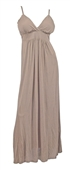 Plus Size Sexy Cocktail Maxi Dress Mocha