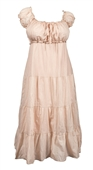 Plus Size Cotton Empire Waist Sundress Light Taupe