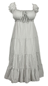 Plus Size Cotton Empire Waist Sundress Gray