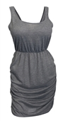 Plus Size Deep V-Back Dress Gray