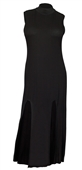 Plus size Sleeveless Maxi Dress Black