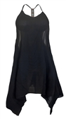 Plus size Racerback Sleeveless Cover-Up Dress Black