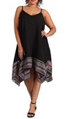 Women's Sleeveless Midi Dress Black