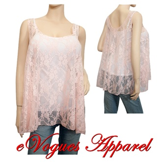 Plus size Sheer Floral Lace Wrap Pink