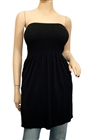 Plus Size Strapless Long Tube Top Black
