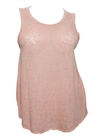 Plus Size Open Back Knit Tank Top Pink