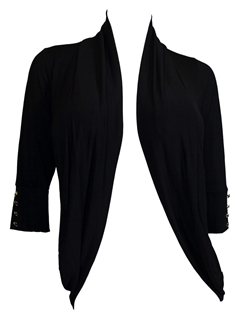 Plus Size Shawl Collar Open Front Cardigan with Button Detail ...
