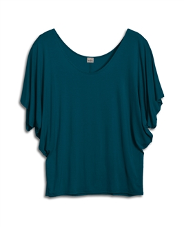 Plus Size Dolman Sleeve Top Teal