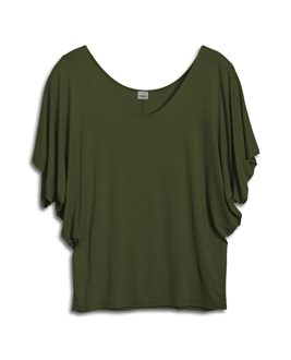 Plus Size Dolman Sleeve Top Olive