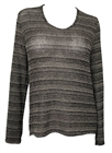 Plus size Open Back Sweater Top Gray