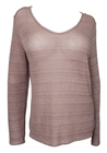 Plus size Open Back Sweater Top Pink